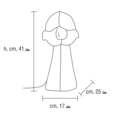 Lámpara de cartón reciclado – medidas