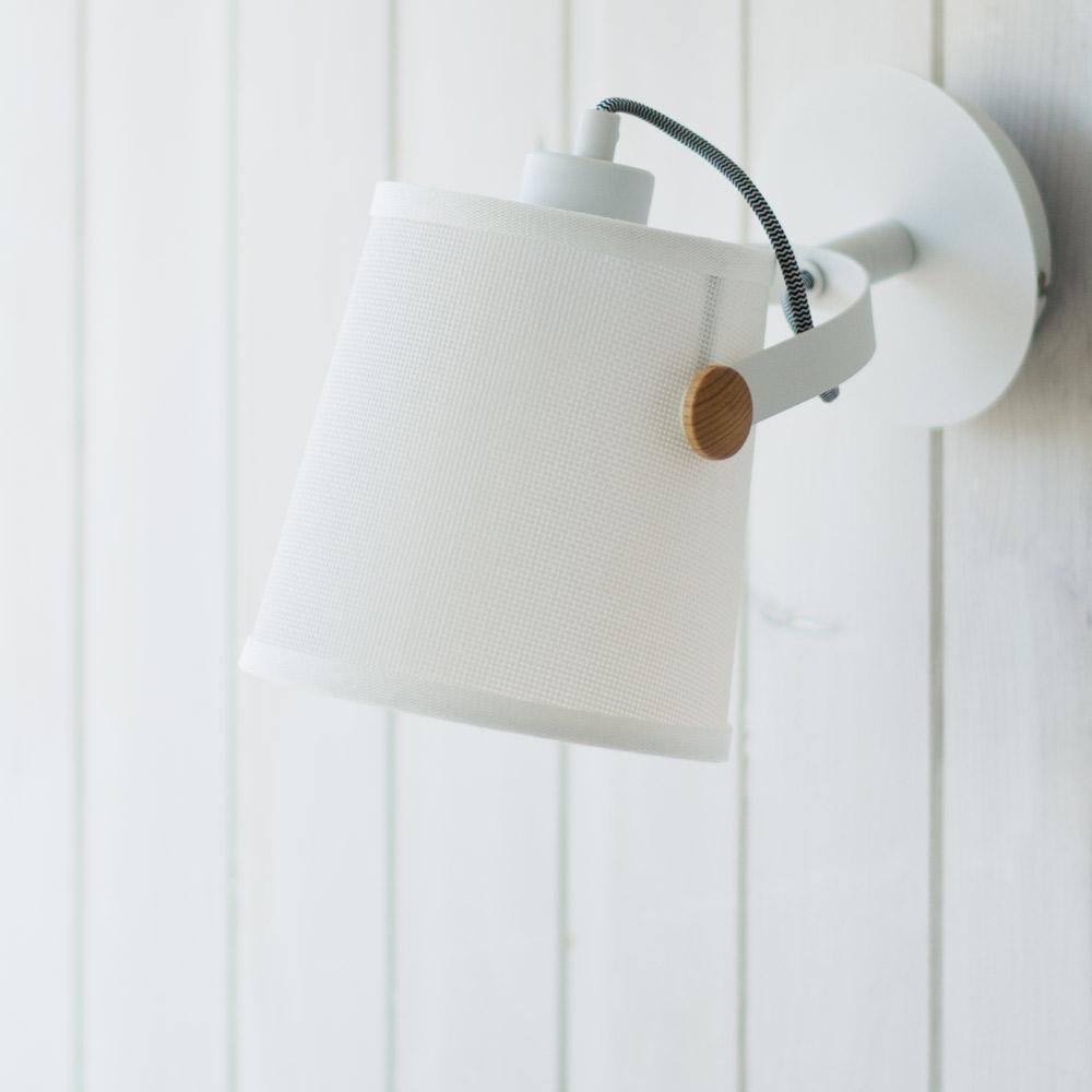 Aplique de estilo n rdico blanco o negro liderlamp tienda de l mparas online - Lampara estanteria ...