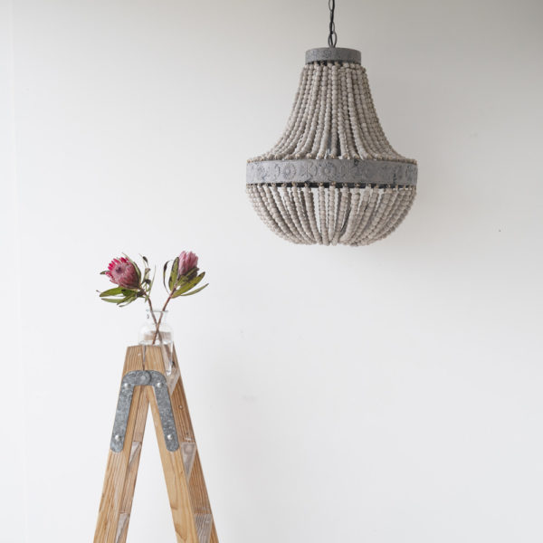 Colgante de cuentas de madera de estilo vintage – lampara de techo – Liderlamp (2)