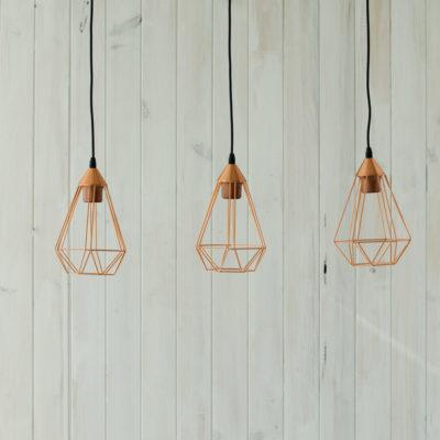 Lámpara colgante en cobre