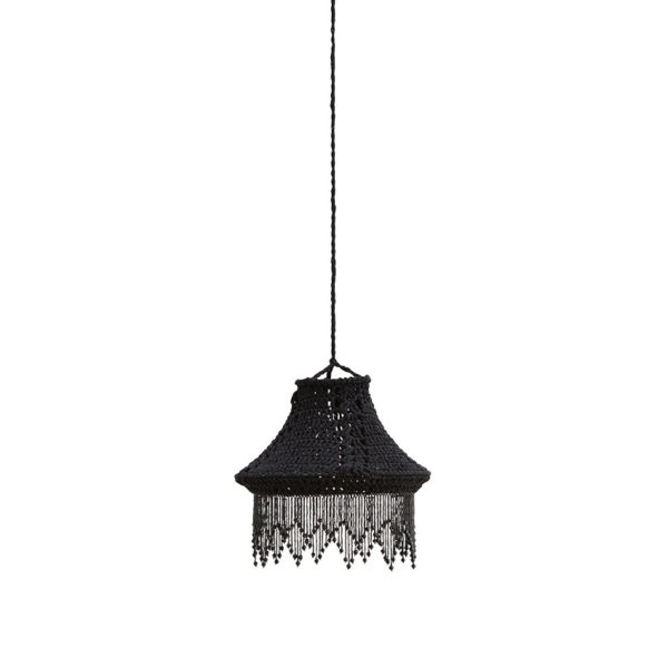 Francine – lámpara colgante con pantalla de crochet