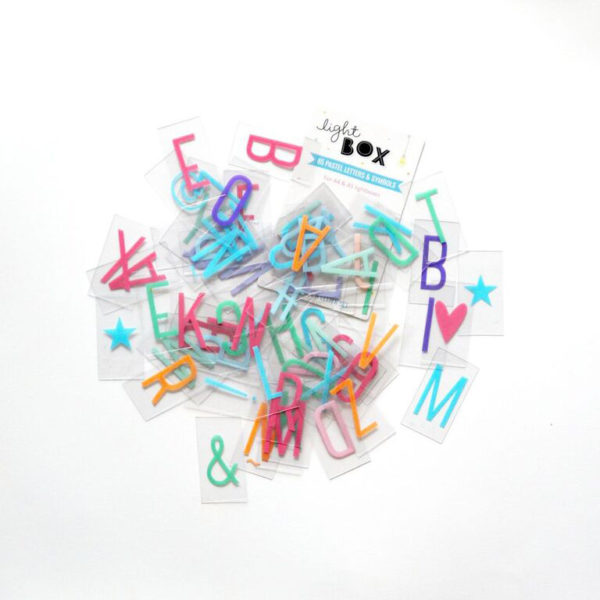 Set de letras pastel
