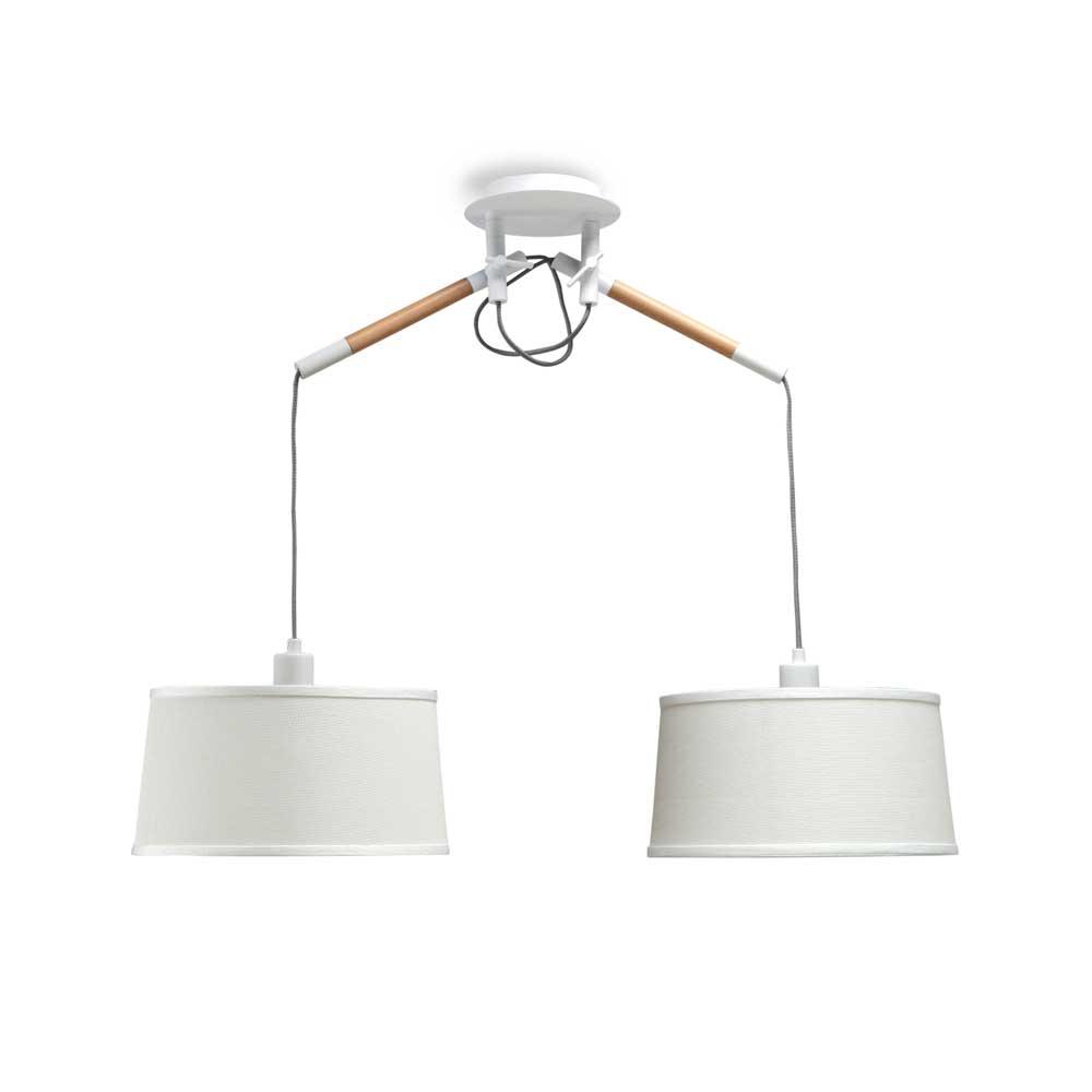 Colgante dos luces n rdica en blanco o negro for Zara home lamparas techo