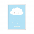 Lámina – shower them with love – azul