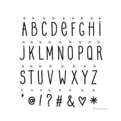 Set de letras y simbolos