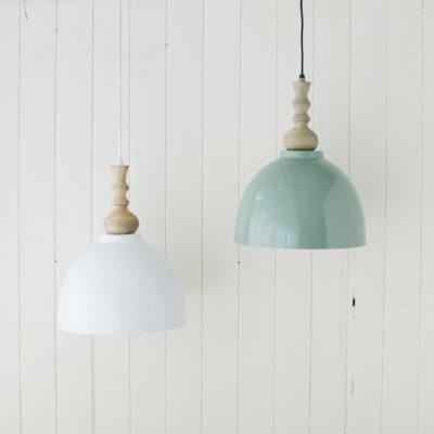 Colgante Oli y Moli - en blanco y verde antiguo