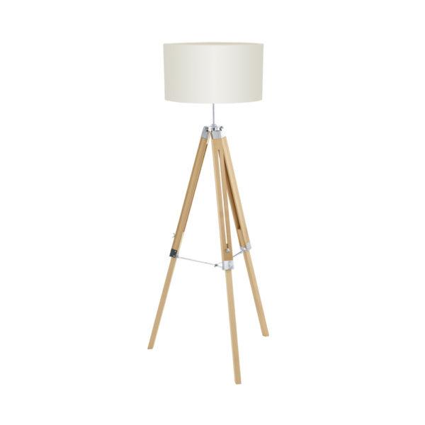 Olivia – pie de salón con trípode de madera