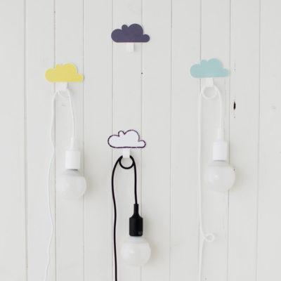 Apliques con colgador de nube