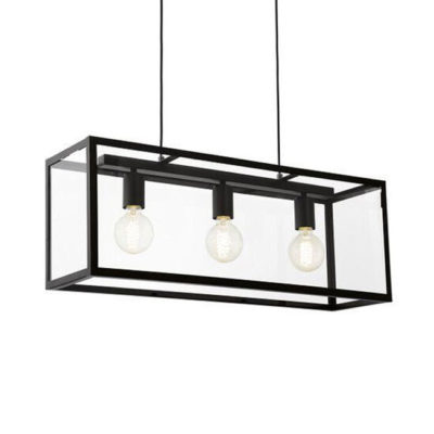 Terrario - 3 luces en caja de cristal
