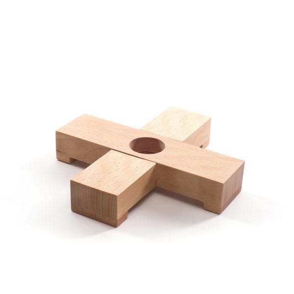 Cruz de madera - base lámpara Jedai