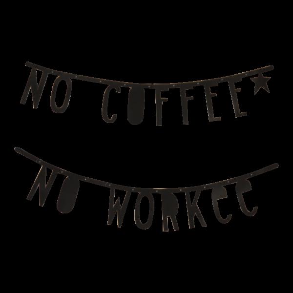 Banner de letras negras