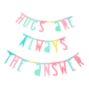 Guirnalda de letras pastel