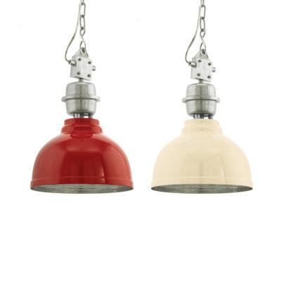 Colgante Newton - metal - rojo y beige - Lámpara de techo - Liderlamp