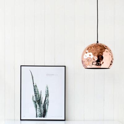 Colgante - esfera de cobre