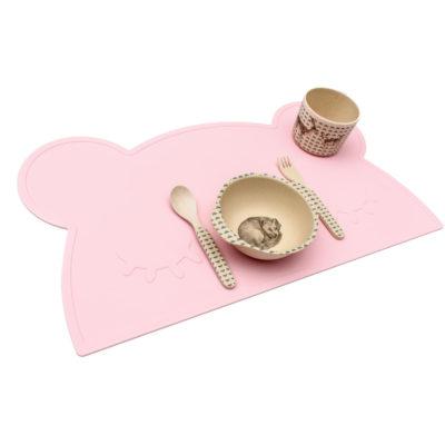 Salvamanteles oso – rosa