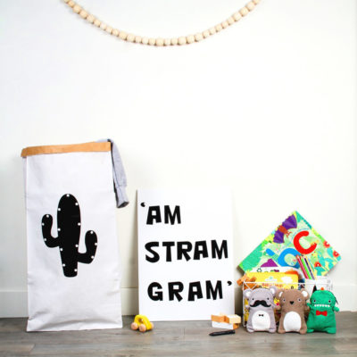 Bolsa de papel cactus - grande