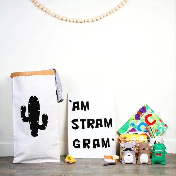 Bolsa de papel cactus – grande