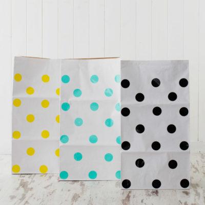 Bolsa de papel topos - XL