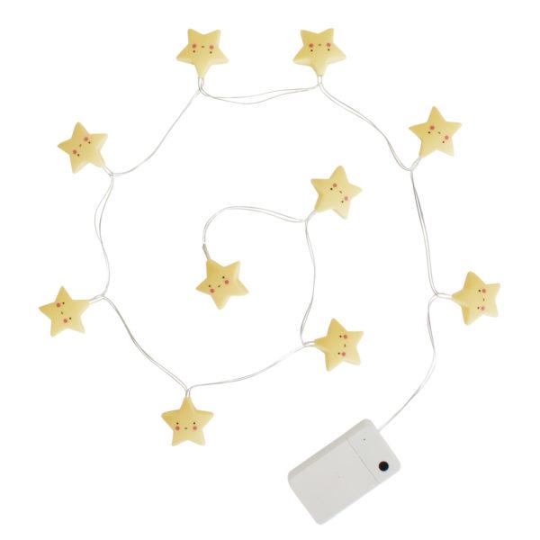 Guirnalda de luces – estrellas – cuarto del bebé – nursery – ideas de decoración – cuarto niños – Liderlamp