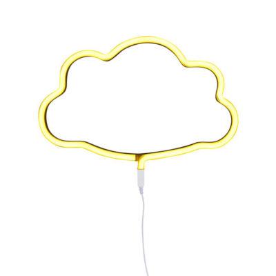 Luz de neon - nube - amarillo - cuarto infantil - iluminación niños - cloud - Liderlamp