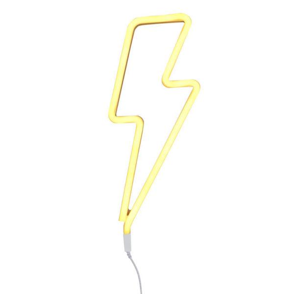 Luz de neon - rayo - amarillo - cuarto infantil - iluminación niños - rock and roll - Liderlamp