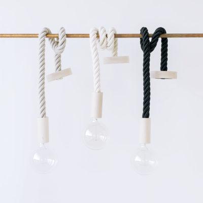 Cable bombilla colgante- cuerda algodón - Liderlamp (1)