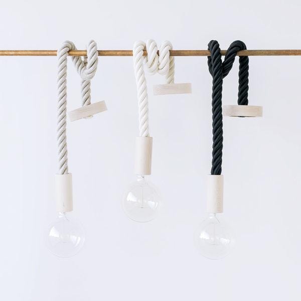 Cable bombilla colgante- cuerda algodón – Liderlamp (2)