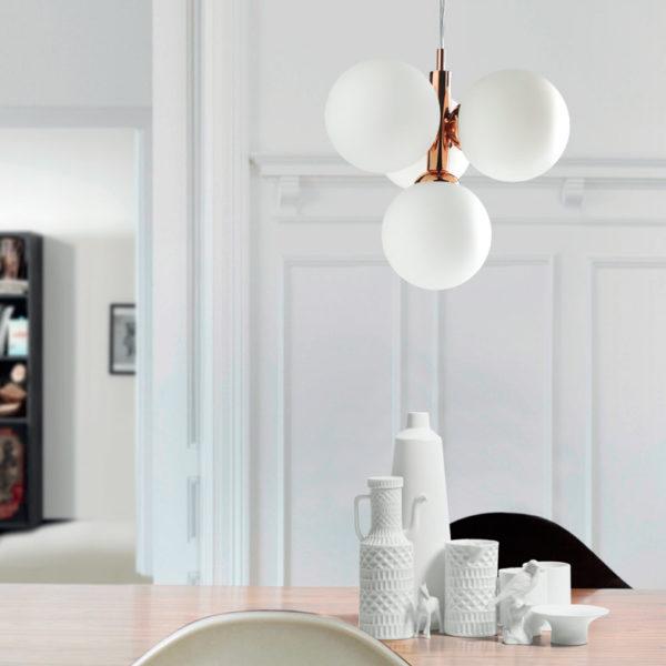 Colgante de cuatro luces – colección buble- 6139 – Massmi – Decoración – iluminación – lámparas online – Liderlamp – Ilumina tus sueños – Zaragoza (1)