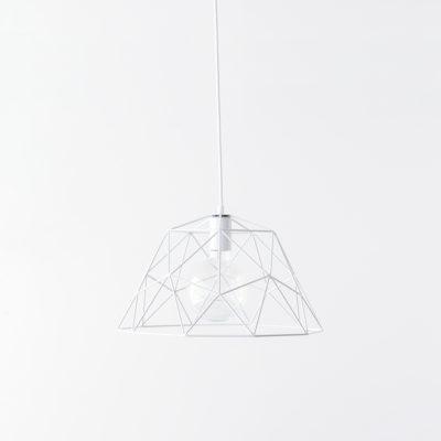 Colgante de metal - estructura geométrica - calado - Liderlamp