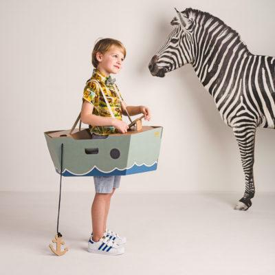 Disfraz barco – barco de cartón – barco verde – Mister Tody – Cosplay – Carnaval – Juegos – Cumpleaños infantil – Liderlamp – Regalo niños – Ilumina tus sueños (1)