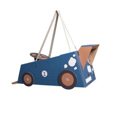 Disfraz coche – coche de cartón – coche azul – Mister Tody – Cosplay – Carnaval – Juegos – Cumpleaños infantil – Liderlamp – Regalo niños – Ilumina tus sueños (3)