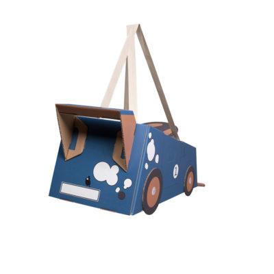 Disfraz coche – coche de cartón – coche azul – Mister Tody – Cosplay – Carnaval – Juegos – Cumpleaños infantil – Liderlamp – Regalo niños – Ilumina tus sueños (4)