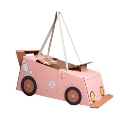 Disfraz coche – coche de cartón – coche rosa – Mister Tody – Cosplay – Carnaval – Juegos – Cumpleaños infantil – Liderlamp – Regalo niños – Ilumina tus sueños (1)