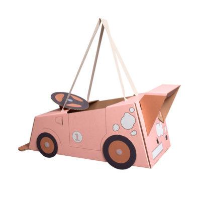 Disfraz coche – coche de cartón – coche rosa – Mister Tody – Cosplay – Carnaval – Juegos – Cumpleaños infantil – Liderlamp – Regalo niños – Ilumina tus sueños (4)