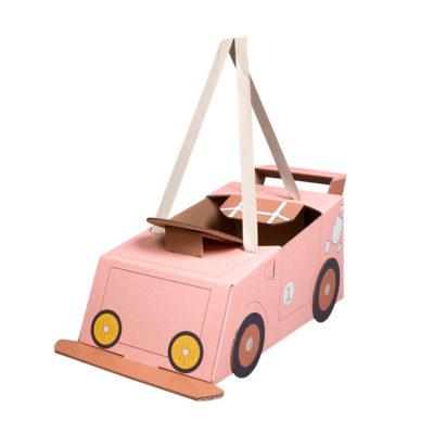 Disfraz coche – coche de cartón – coche rosa – Mister Tody – Cosplay – Carnaval – Juegos – Cumpleaños infantil – Liderlamp – Regalo niños – Ilumina tus sueños (5)