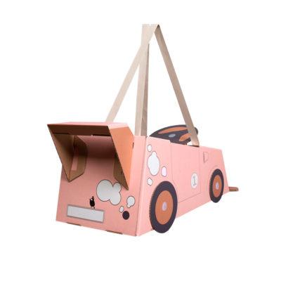 Disfraz coche – coche de cartón – coche rosa – Mister Tody – Cosplay – Carnaval – Juegos – Cumpleaños infantil – Liderlamp – Regalo niños – Ilumina tus sueños (6)