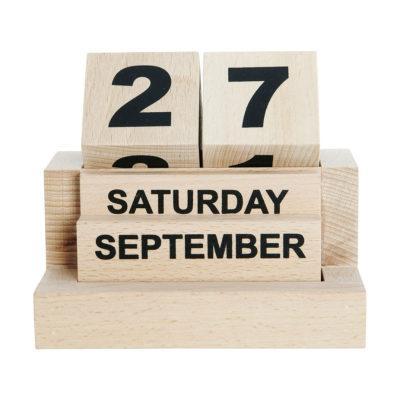 Eternal calendar - Calendario perpetuo - Monograph - Ht0100 - Calendario de madera - Liderlamp (1)