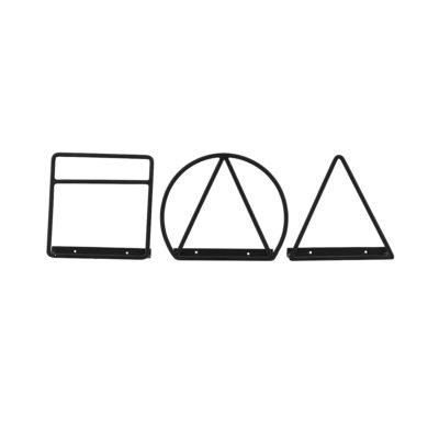 Revistero geométrico - hierro - diseño nórdico - industrial - metal - organizar el salón - organizar los cables - rack magazine - house doctor - Liderlamp - ilumina tus sueños