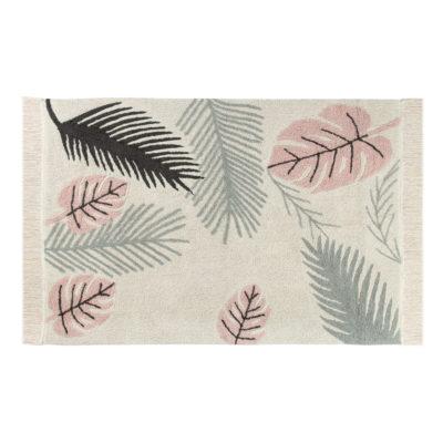 Alfombra - Tropical pink - hojas de monstera - Liderlamp (1)