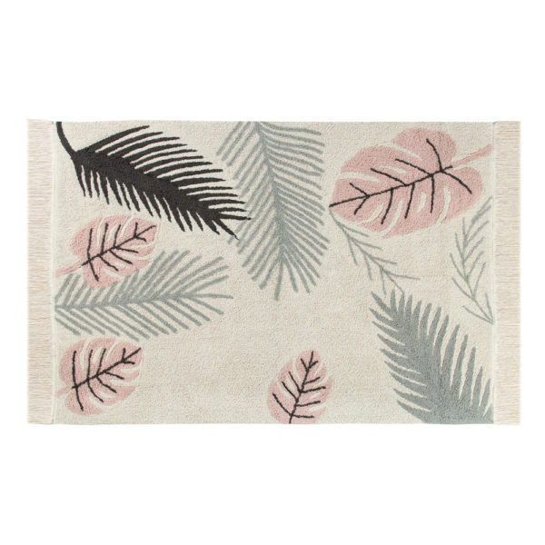 Alfombra – Tropical pink – hojas de monstera – Liderlamp (1)