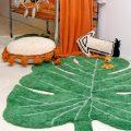 Alfombra – hoja de monstera – decoración tropical – greenery – Liderlamp (1)
