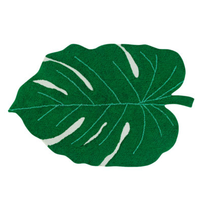 Alfombra - hoja de monstera - decoración tropical - greenery - Liderlamp (1)