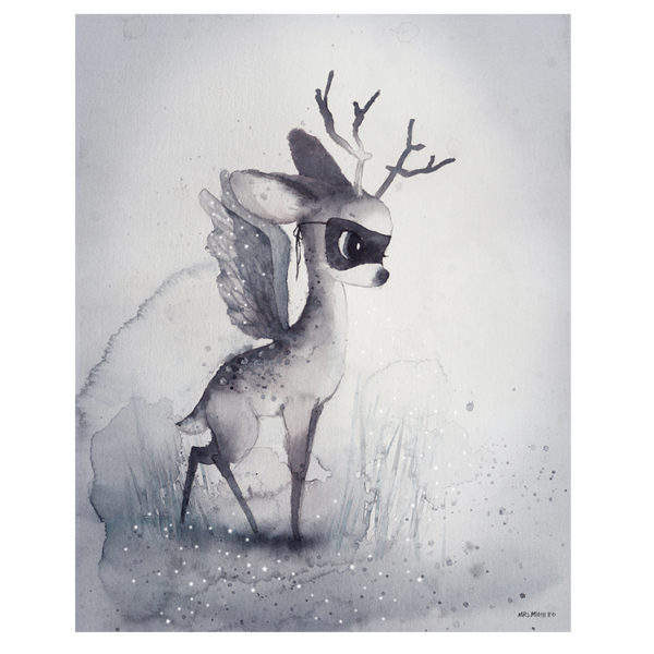 Laminas – Mrs Mighetto – the end of the forest – Liderlamp – Dear Fawn -40×50