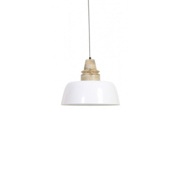 Lampara colgante Marga – madera natural – blanco – Light and Living – Liderlamp