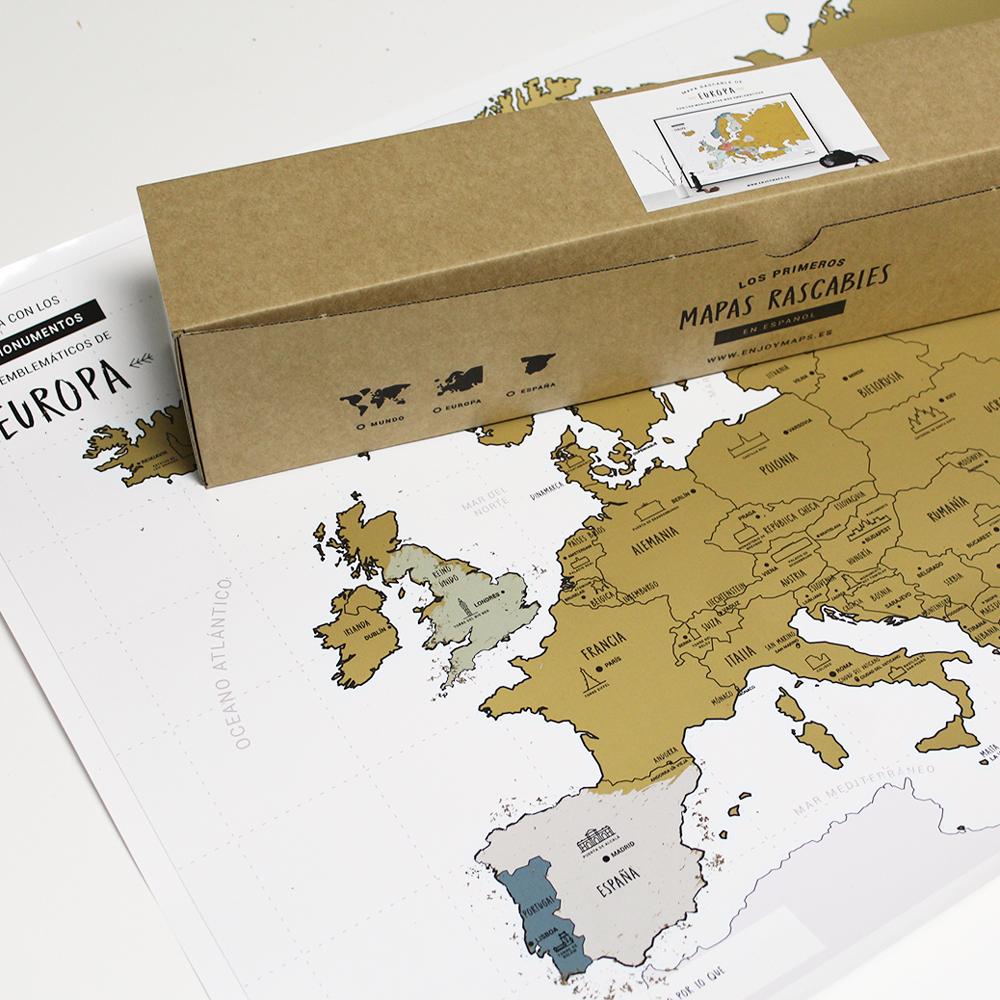 Mapa Rascable Europa Regalo Para Viajeros Enjoy Maps Liderlamp