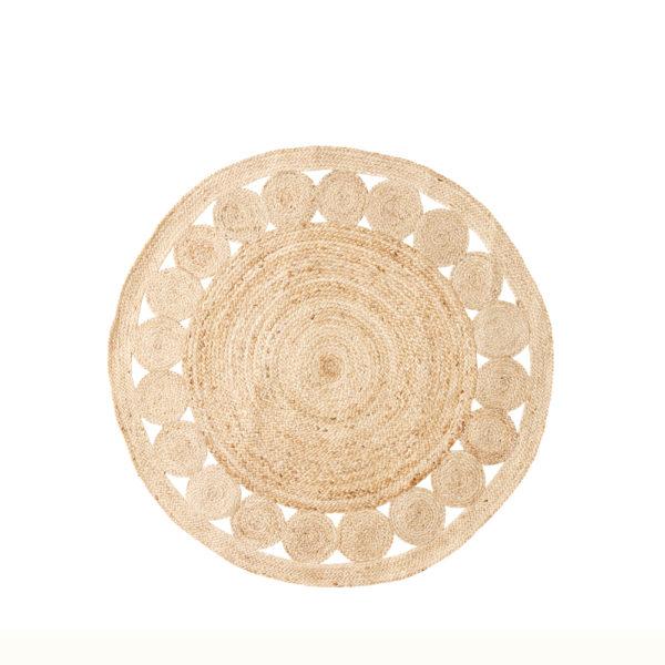 Alfombra redonda de yute natural - natural - Liderlamp