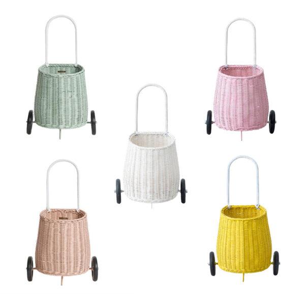 Cesta – carrito de compra – niños – almacenaje . Olli Ella – Liderlamp (1)