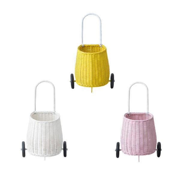 Cesta – carrito de compra – niños – almacenaje . Olli Ella – Liderlamp (4)