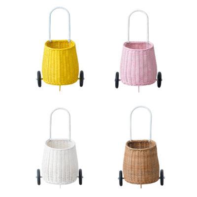 Cesta - carrito de compra - niños - almacenaje . Olli Ella - Liderlamp (8)