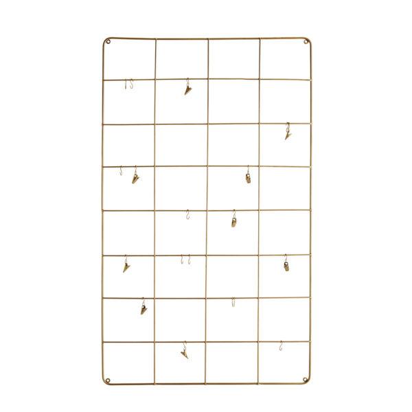 Colgados de metal – memoryboard – Liderlamp